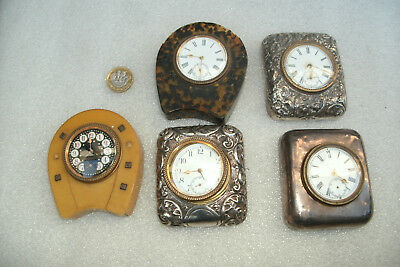 Vintage Silver Desk Clocks For Repair