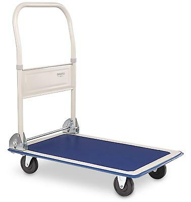 150 Kg Folding Platform Hand Trolley Cart Warehouse Sack Flat Bed Transport