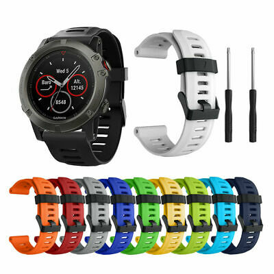 26mm Quick Install Silicone Rubber Band Wrist Strap For Garmin Fenix 3/5X Watch