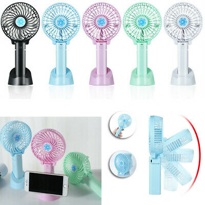 Mini Portable Pocket Fan Cool Air Hand Held Battery Travel Blower Cooler New Uk