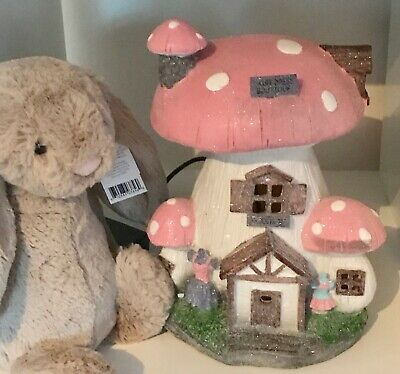 ~❤️~TOADSTOOL NIGHT LIGHT Mushroom 30cms Pink PLUG-IN Cool to touch BNIB~❤️~