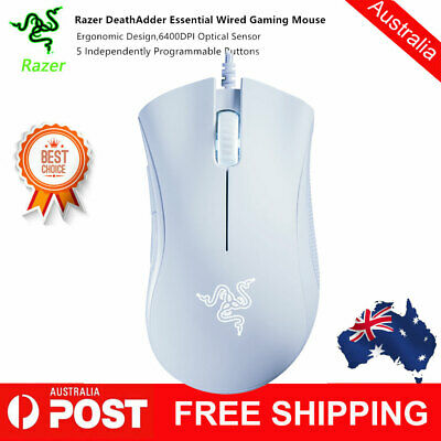 Razer DeathAdder Essential Wired Gaming Mouse 6400DPI Optical Sensor 5 P6C0