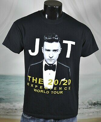 Justin Timberlake JT 20/20 Experience World Tour 2013 SHIRT Sz M 2-Sided