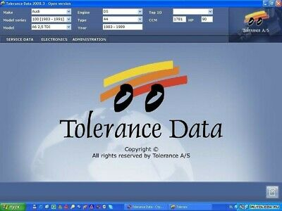 2009.2✔️Tolerance Garage Repair Auto Data Software Database✔️Download