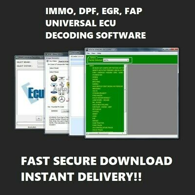 Latest✔ Dpf✔ Fap✔ Egr✔ Immo✔ Delete ✔Ecu Decoding✔ Universal Software 3.2