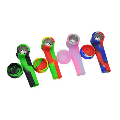 New Design Portable Colored Silicone Smoking pipe Hand Spoon Pipe Hookah Bongs A