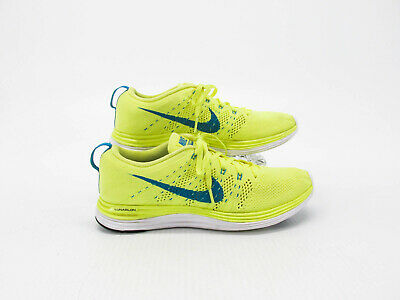 san francisco 70e60 9b4cc Nike Flyknit Lunar 1 Women Yellow Athletic Running Shoe Size 7.5M Pre Owned  QJ