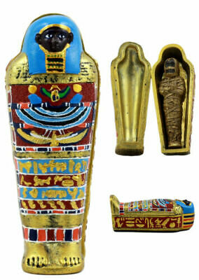Ebros Gift Egyptian Small Mummy with Sarcophagus Miniature Jewelry Trinket Box