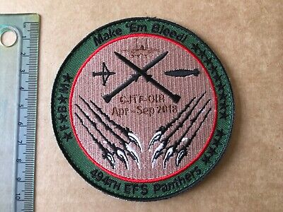 """USAF 494th Panthers Fighter Squadron """"Bleed Red"""" patch New RAF Lakenheath"""