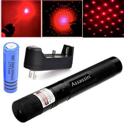 60 Miles Red Laser Pointer Pen Visible Beam Star Light 18650 Rechargeable Lazer