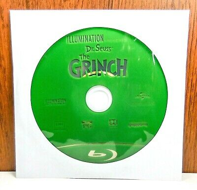 Illumination Presents, Dr. Seuss' The Grinch - Disc Only (Blu Ray, 2018) Seuss