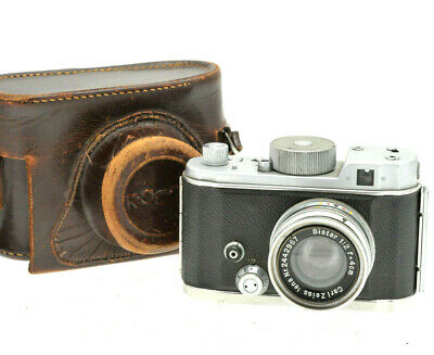 VINTAGE ROBOT II CAMERA CARL ZEISS JENA BIOTAR 4CM / 40mm f2 LENS CASE