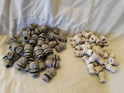Job Lot Of 196 Cable Glands For Sale With Retaining Nuts