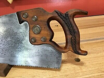 THE SIMONDS SAW Crosscut Saw 9 PPI Applewood Handle Antique HAND SHARPENED!