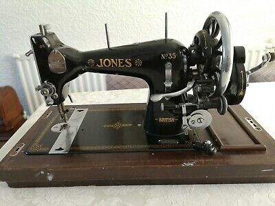 jones no 35 Hand Crank sewing machine Vintage Antique 1930's