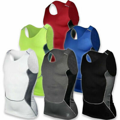 Mens Fitness Wear Under Skin Base Layer Tight Tops Vest Sports T-Shirts Athletic