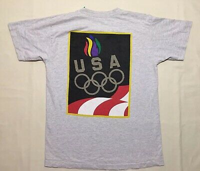 7a086d07e Vintage 90s USA Olympic Games Team T Shirt Men's Medium M RARE Single  Stitched