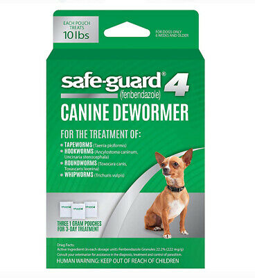 2X Safe-Guard 4 Canine Dewormer for Small Dogs, 3-Day Treatment