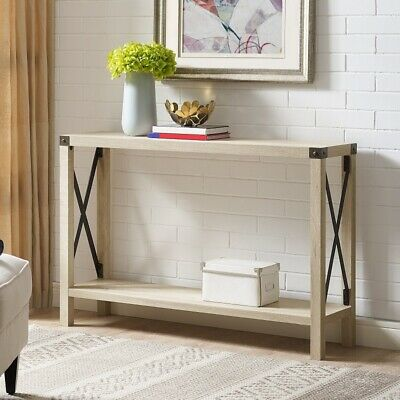 Farmhouse Table Sofa Console Entryway Accent Modern Rustic Farm Industrial Chic
