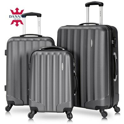 3PCS Travel Luggage Bag Trolley Carry On Set Suitcase ABS w/Lock (20 24 28inch)