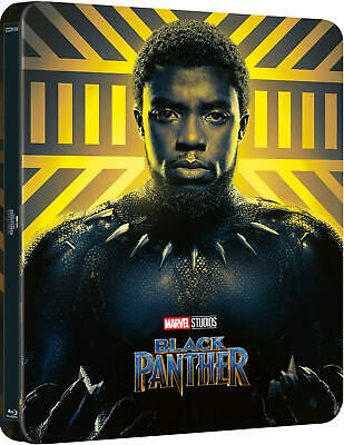 Black Panther - Limited Edition Lenticular Magnet Steelbook (Blu-ray 2D/3D) NEW!