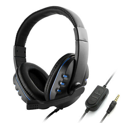 3.5mm Wired Gaming Headphones Over Ear Game Headset Noise Canceling T3X5