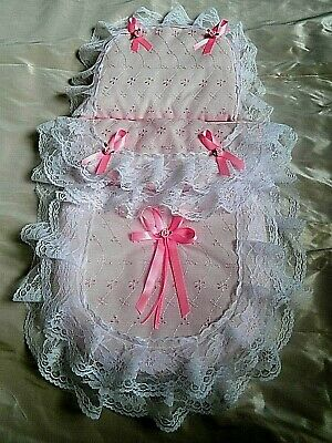 Dolls Pram Set Pink, Lilac, Blue  Broderie Anglaise Silver Cross Ranger Pioneer