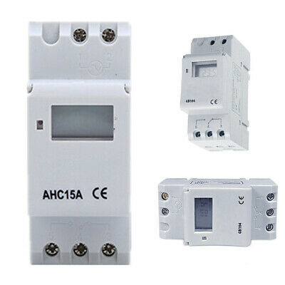 LCD Digital Rail Switch Control Programmable Relay Electronic Timer Industrial