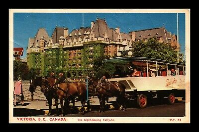 Dr Jim Stamps Victoria Canada Tally Ho Sight Seeing Coach Horses Postcard