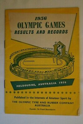 Olympic Games Collectable 1956 Melbourne Vintage Olympic Tyres Results & Records