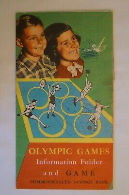 Olympic Games Collectable 1956 Melbourne Vintage CBA Info Folder and Game Sheet