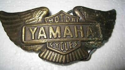 vintage Yamaha motorcycle belt buckle