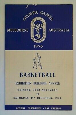Olympic Games Collectable 1956 Melbourne Vintage Official Basketball Programme