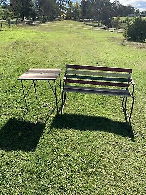 Vintage Outdoor Garden Bench And Table