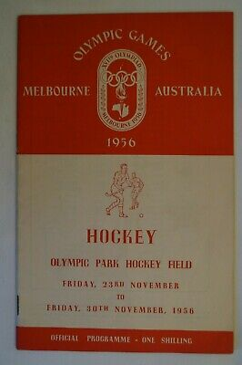 Olympic Games Collectable 1956 Melbourne Vintage Official Hockey Programme