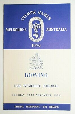 Olympic Games Collectable 1956 Melbourne Vintage Official Rowing Programme