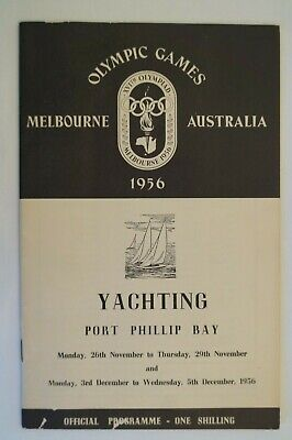 Olympic Games Collectable 1956 Melbourne Vintage Official Yachting Programme