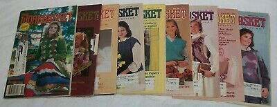 "9 Vintage ""The Workbasket"" Magazines From 1985 & 1986"