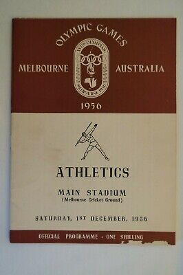 Olympic Games Collectable 1956 Melbourne Vintage Official Athletics Programme