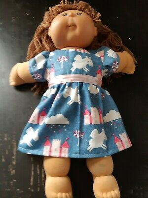 Homemade Cabbage Patch Blue Unicorn Castle  Dress