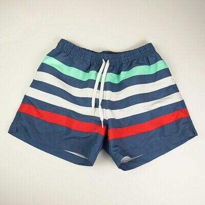 e17c094ca36f3 Chubbies Men's Swim Trunks Size L Striped Blue White Red Teal NWOT Made in  USA