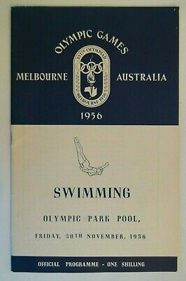 Olympic Games Collectable 1956 Melbourne Vintage Official Swimming Programme