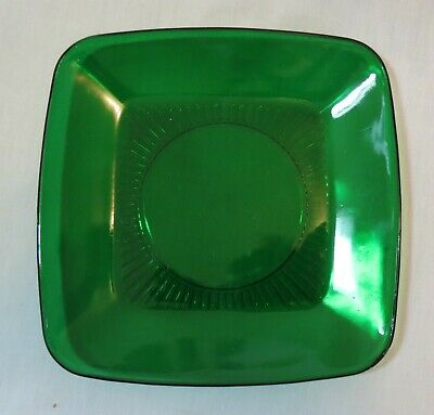 """Anchor Hocking Fire King Forest Green Charm Square 8 ¼"""" Luncheon Plate(s)"""