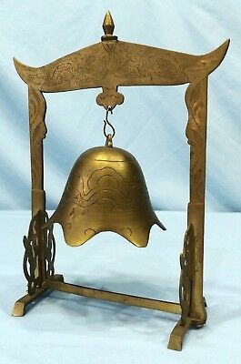 Vintage Chinese Temple Bell Brass Bronze