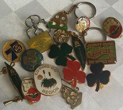 VINTAGE GIRL GUIDE x 17 Collectable BADGES Excellent condition