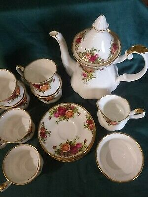 Royal Albert Old Country Roses Coffee set six place settings