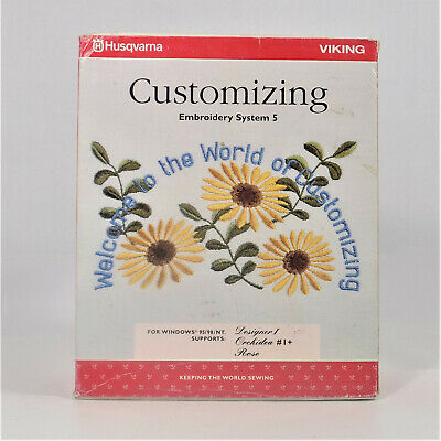 Husqvarna Viking Customizing Embroidery System 5 Software Includes Dongle