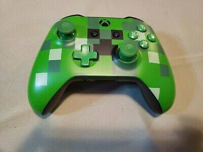 Xbox One Wireless Controller Minecraft Creeper Rare Limited Edition! FOR PARTS