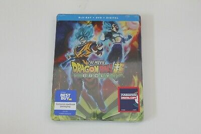 Blu-ray & DVD | Dragon Ball Super: Broly 2019 Steelbook | Best Buy New Sealed