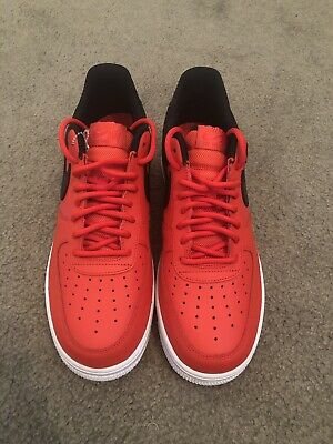 Nike Air Force 1 '07 LV8 Mens AV8363-600 Habanero Red Black Low Shoes Size 9.5